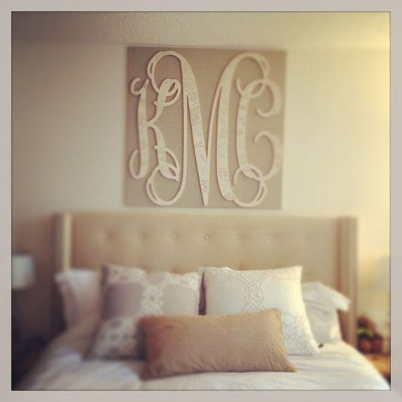 Incroyable Wooden Monogram Wedding Guest Book, Wooden Monogram Over Bed, Home Decoru2026