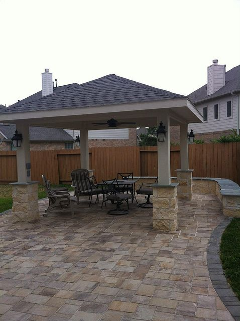 Freestanding patio cover project in Pearland, TX by Texas_Custom_Patios,  via Flickr - Freestanding Patio Cover Project In Pearland, TX By