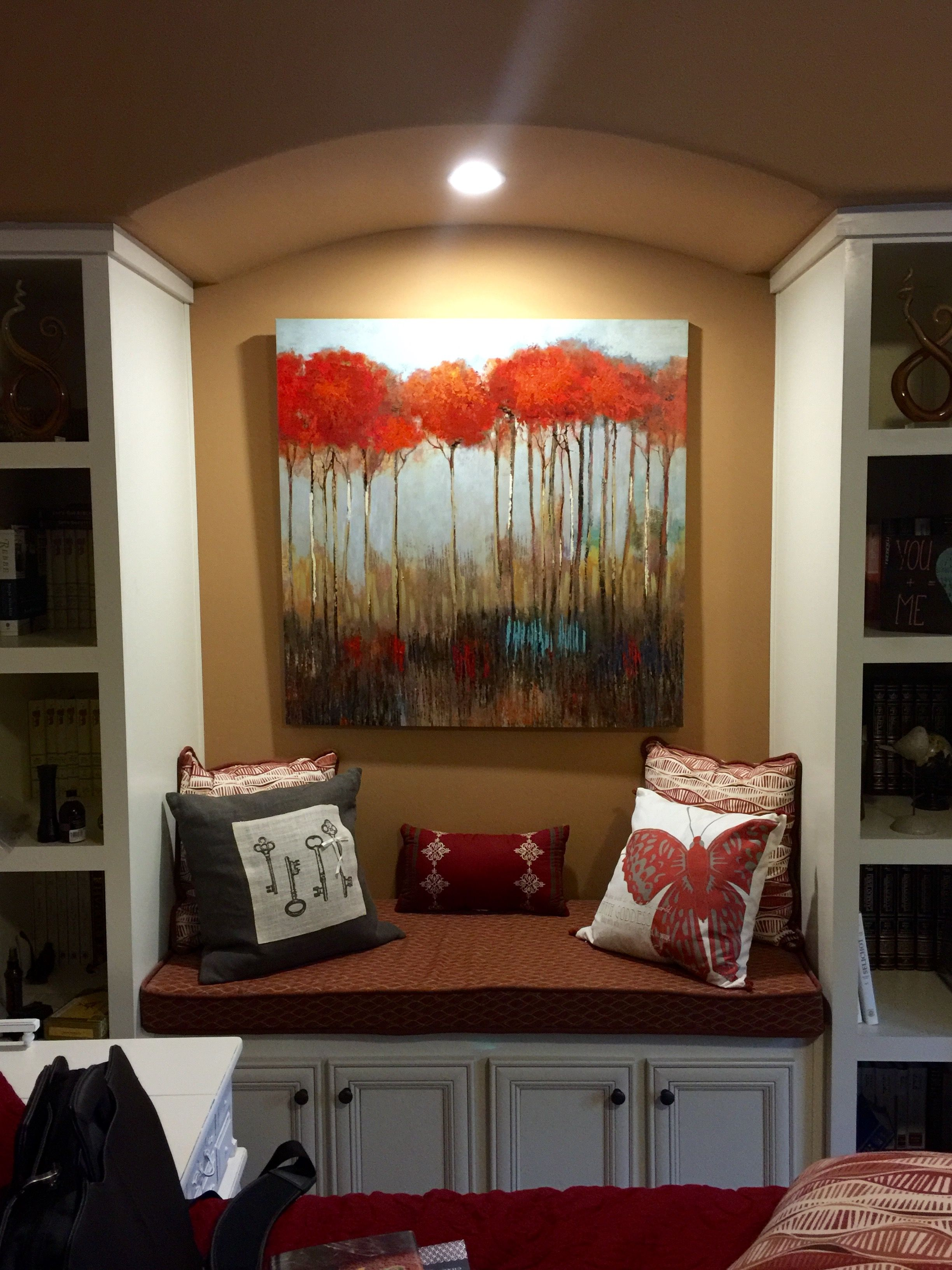 Master Bedroom Alcove and Built-ins #blessyourheart # ...