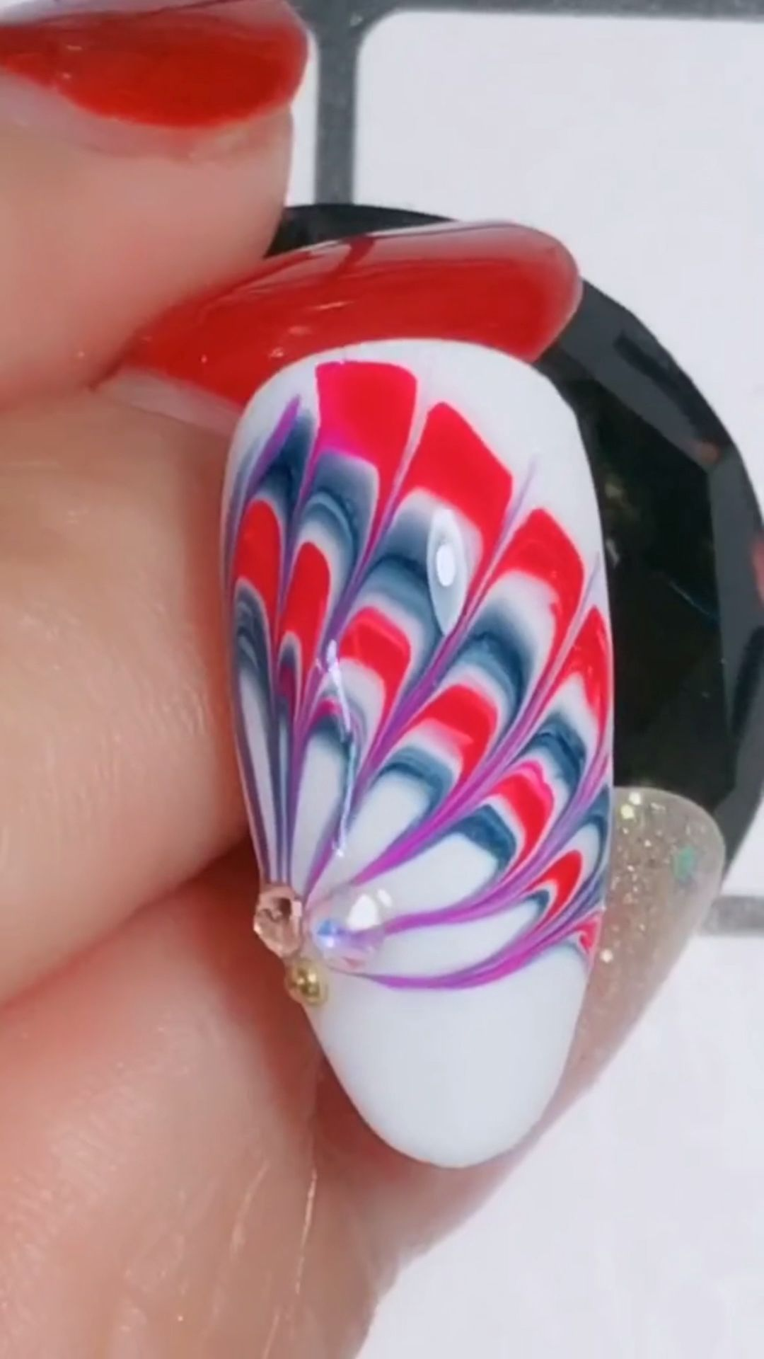 Simple nails art design video Tutorials Compilation Part 115 #christmasmargarita