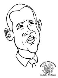 Barack Obama Coloring Page Holidays Pinterest Barack obama