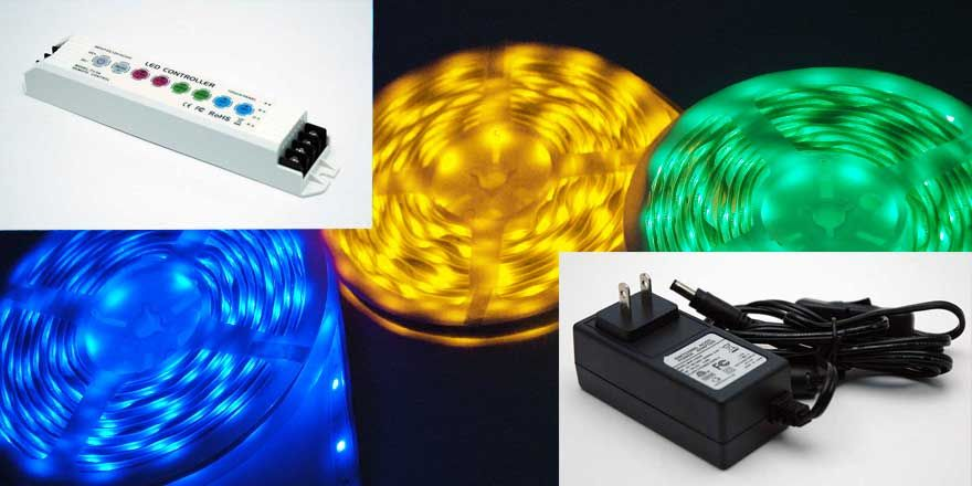 12v Rgb Strip Light Kit With Images Color Changing Led Led Strip Lighting