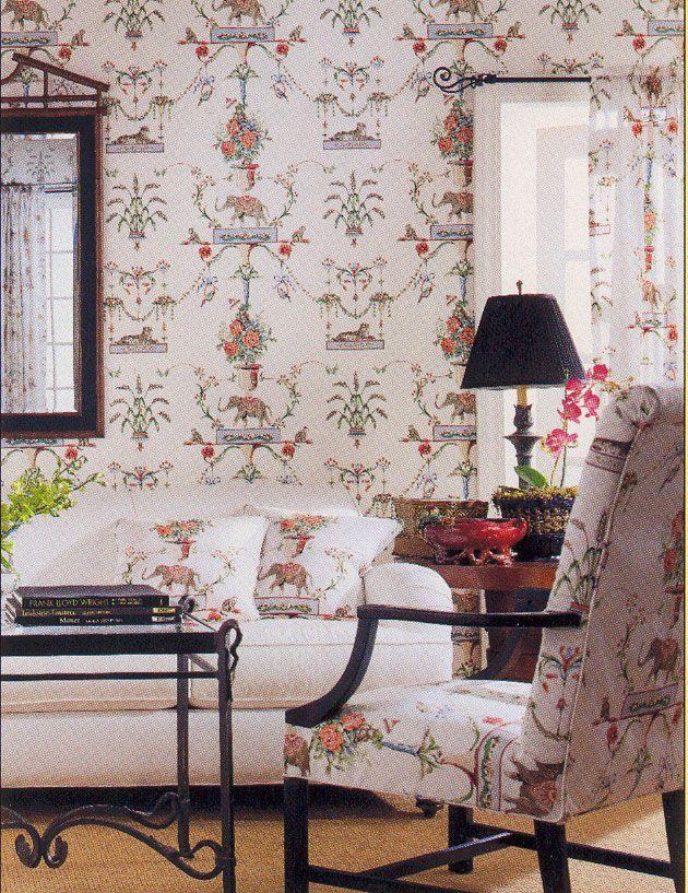 Azweema wallpaper and fabric from #CenturiesII #Thibaut