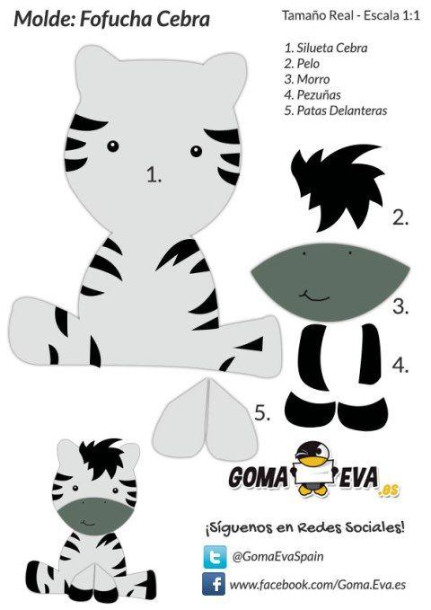 Plantilla goma eva cebra 1 pinterest cebras goma - Plantillas goma eva ...