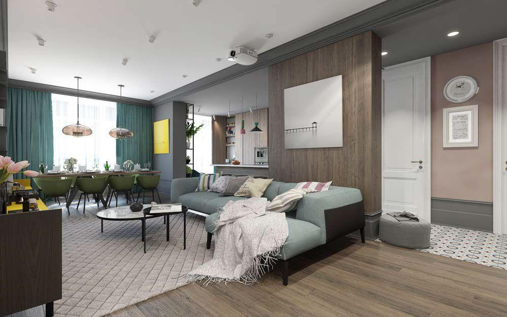 home интерьер дизайн интерьера квартиры жилые помещения on color combinations for home interiors id=91595