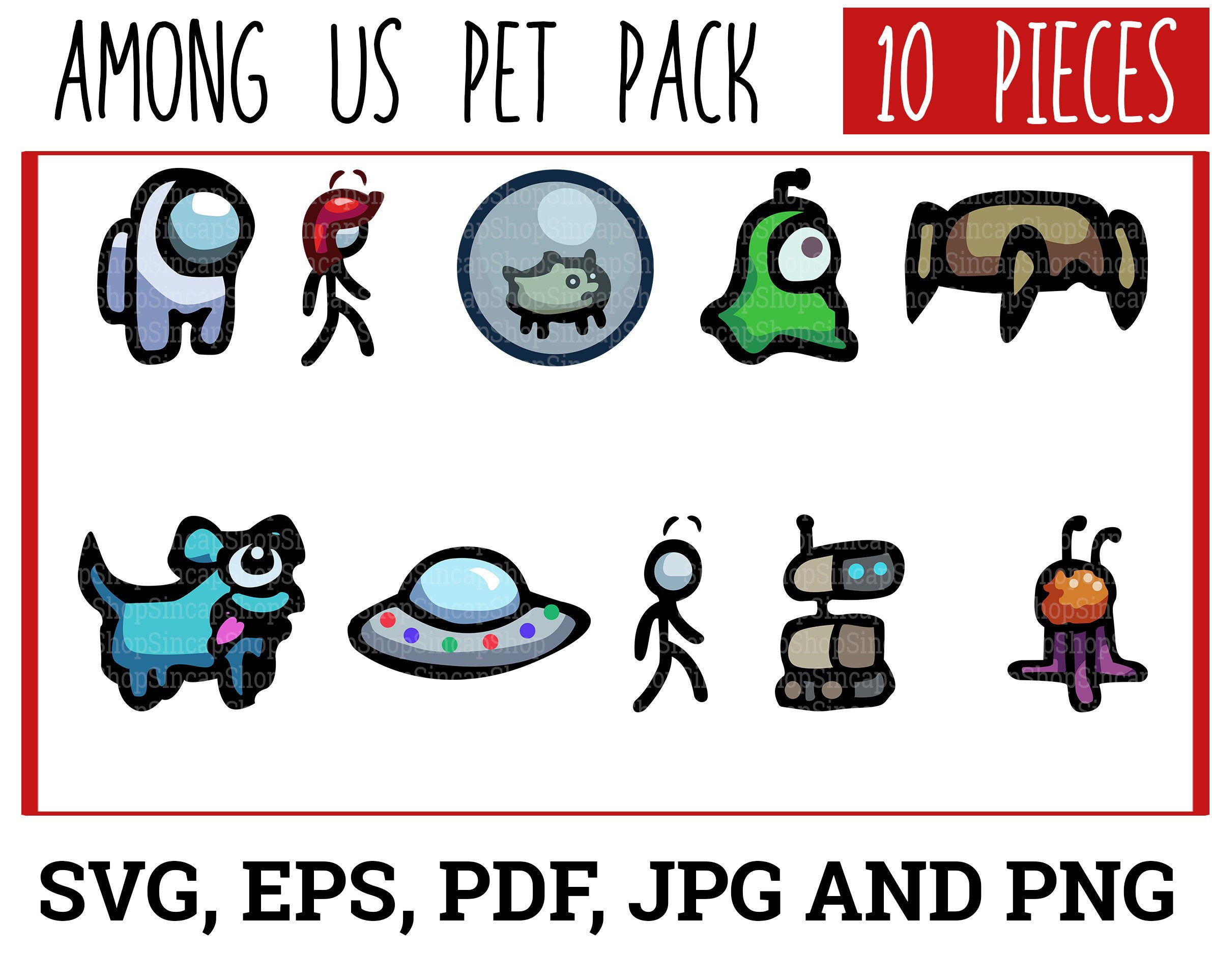 Among Us Svg Pet Pack Among Us Svg Among Us Png Among Us Etsy Pets Svg Png