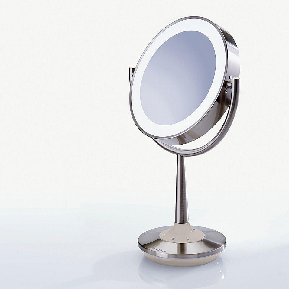 Brookstone Cordless Illuminated Makeup Mirror Bed Bath Beyond In 2020 Makeup Mirror Mirror Ring Light Mirror
