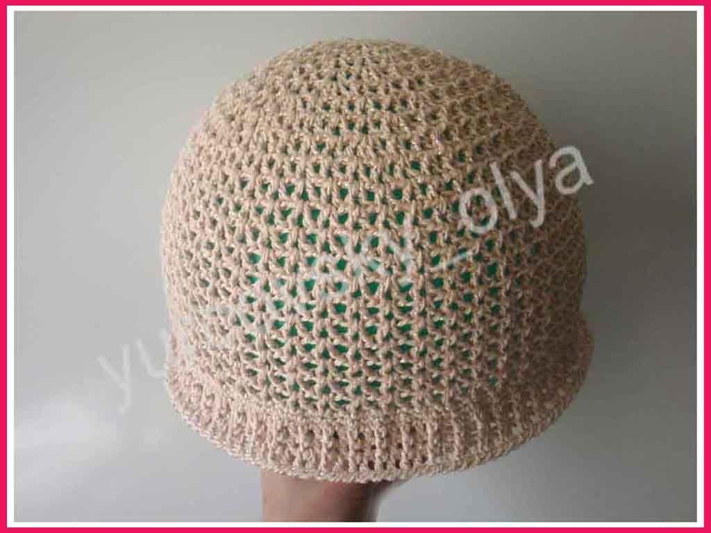 Летние детские шапки крючком схема и