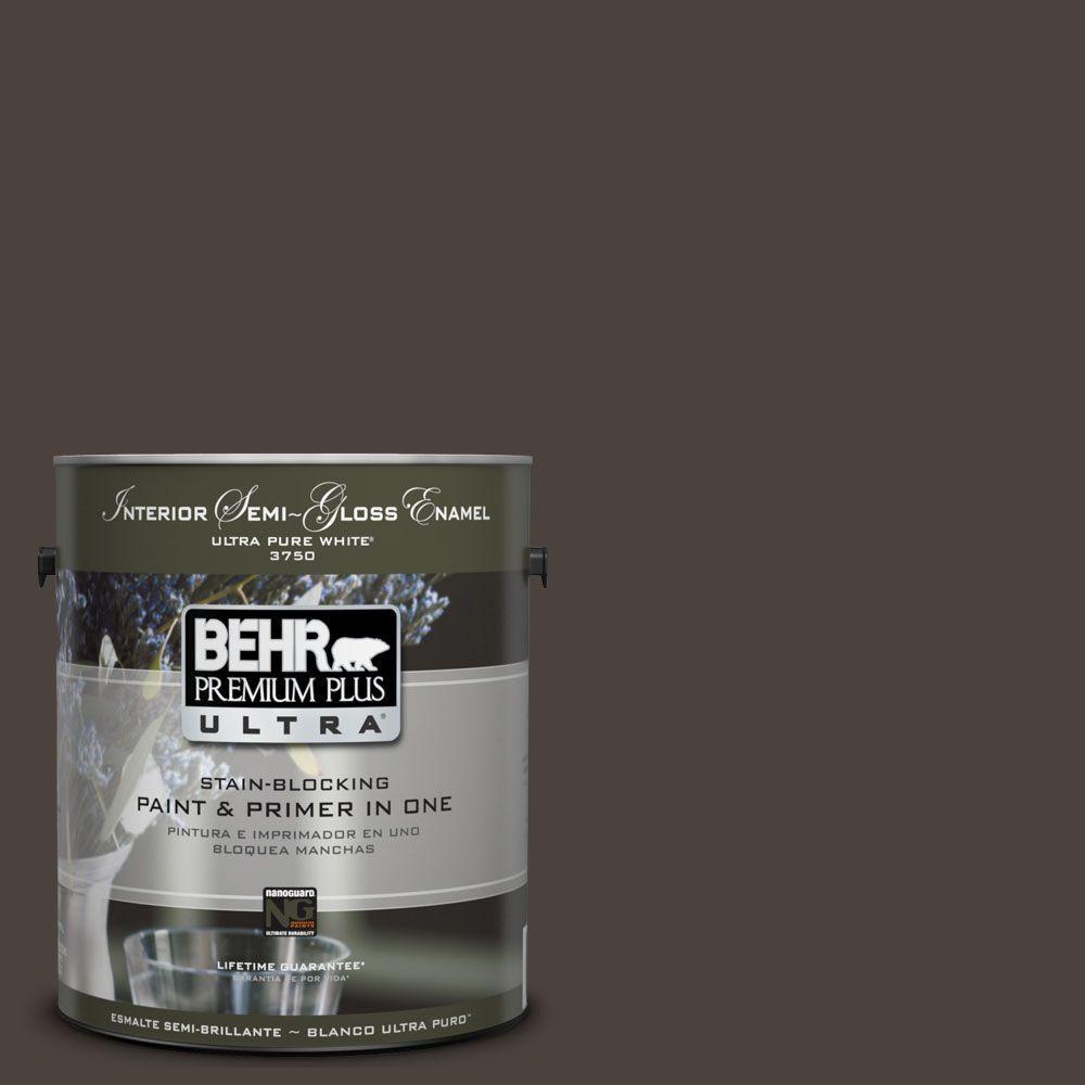 Behr Premium Plus Ultra In Espresso Bean Great For Bathroom Vanity Entertainment Center Door