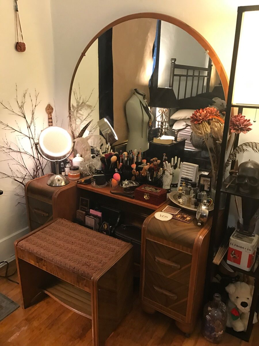 Art Deco Waterfall Style Dressing Table Aesthetic Room Decor Home Home Decor