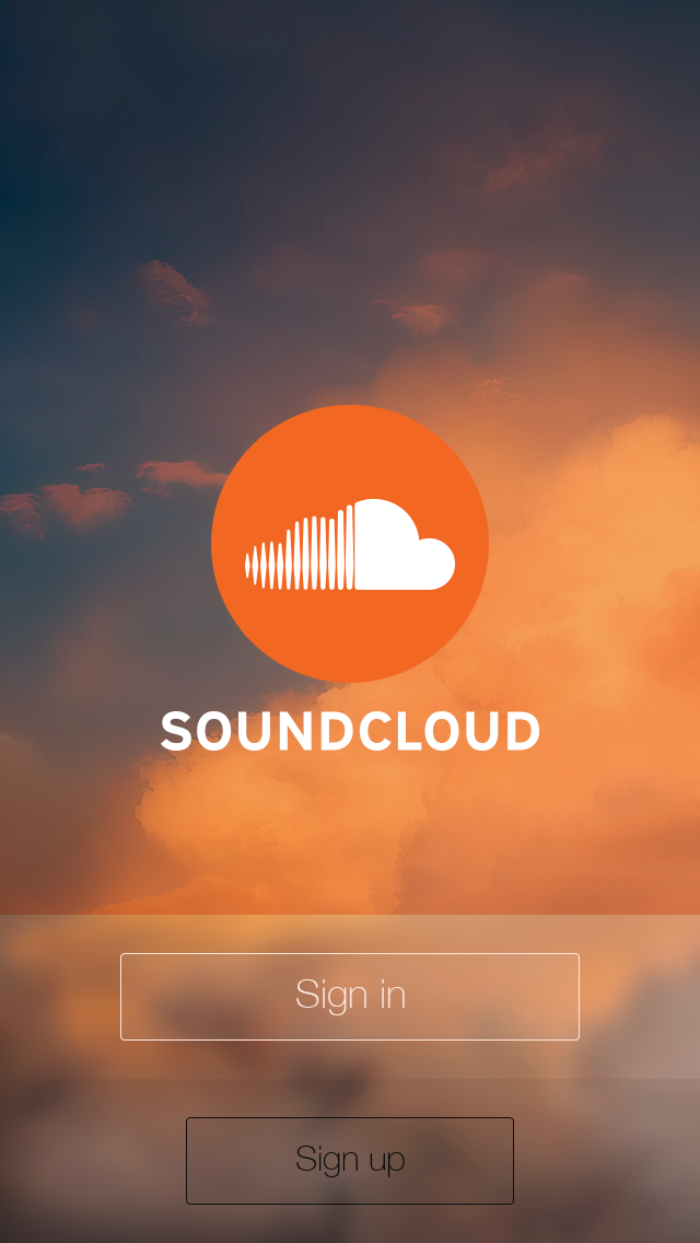 This is a conceptual design for Soundcloud app based on
