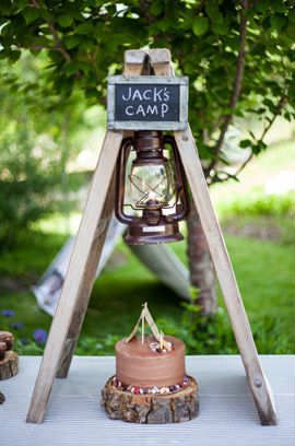 Backyard Camping Themed Birthday Party