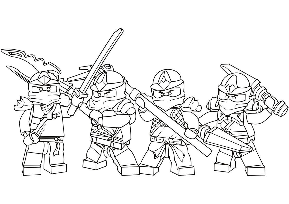 - Four Ninjas Ninjago Coloring Pages