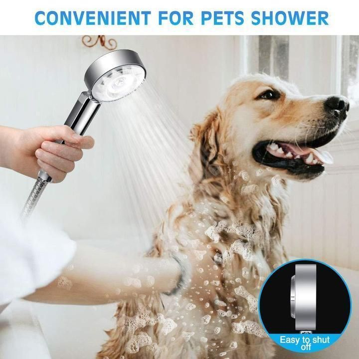 Doublesided water pressurized shower head handheld high