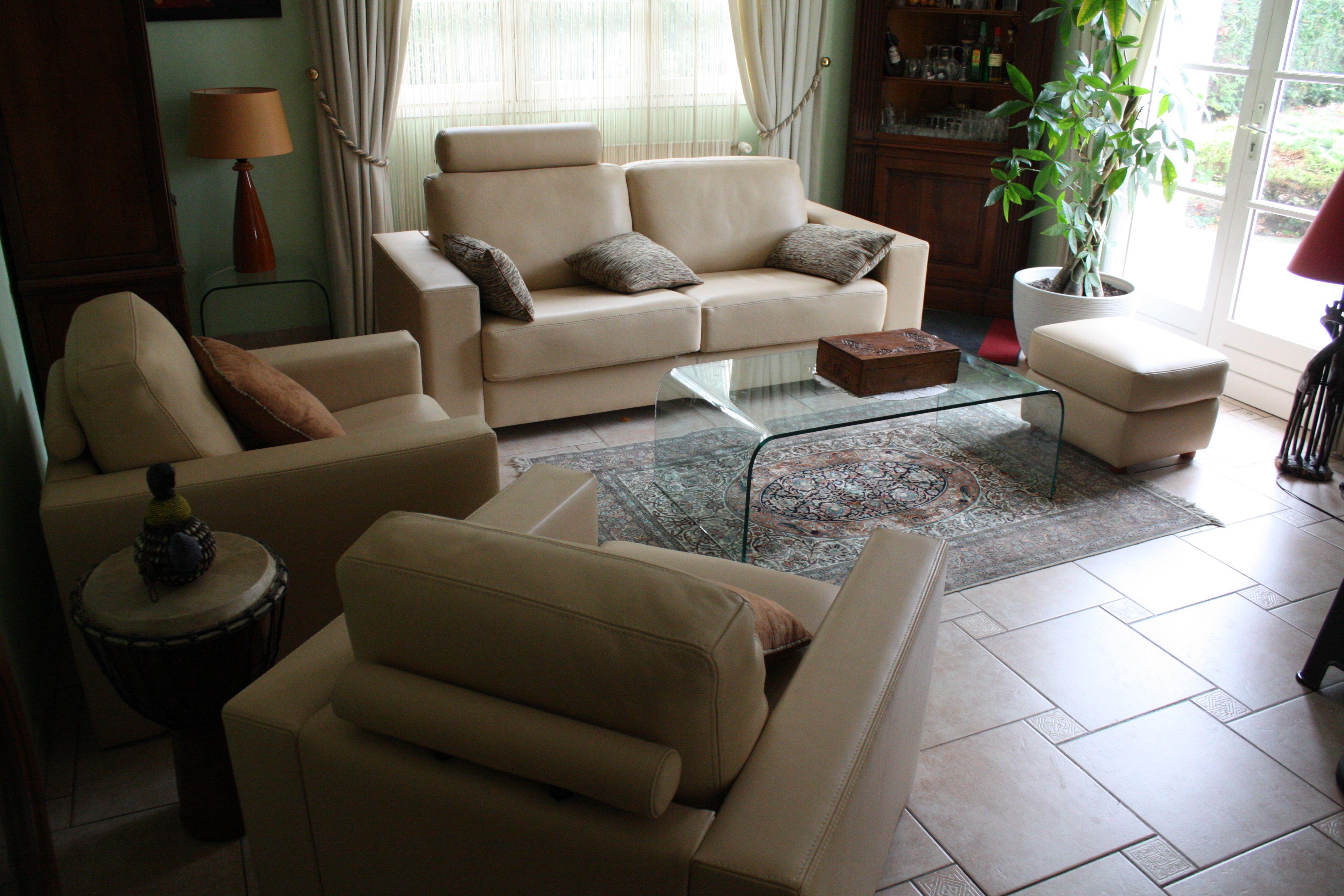 Marque JANDRI Canapé fauteuils et pouf BORA avec accoudoirs