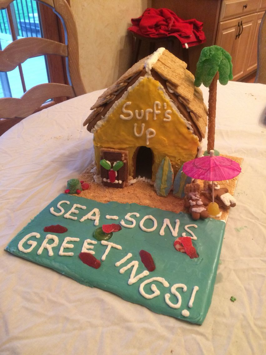 Premade Gingerbread Houses A Gingerbread House Kit With A Twist Nautical Under The Sea