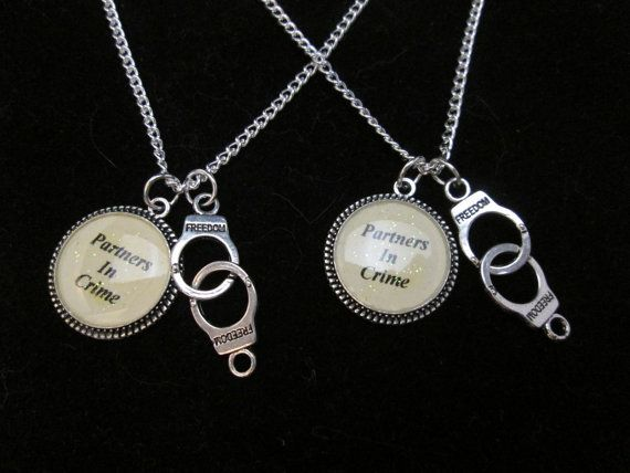 Hey, I found this really awesome Etsy listing at https://www.etsy.com/listing/253355126/set-of-2-necklaces-handcuff-partners-in