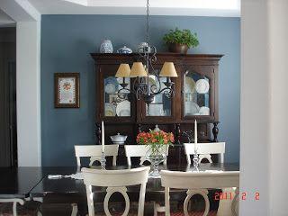 A Sierra Home Paint Color Mercer Blue Stair Walls