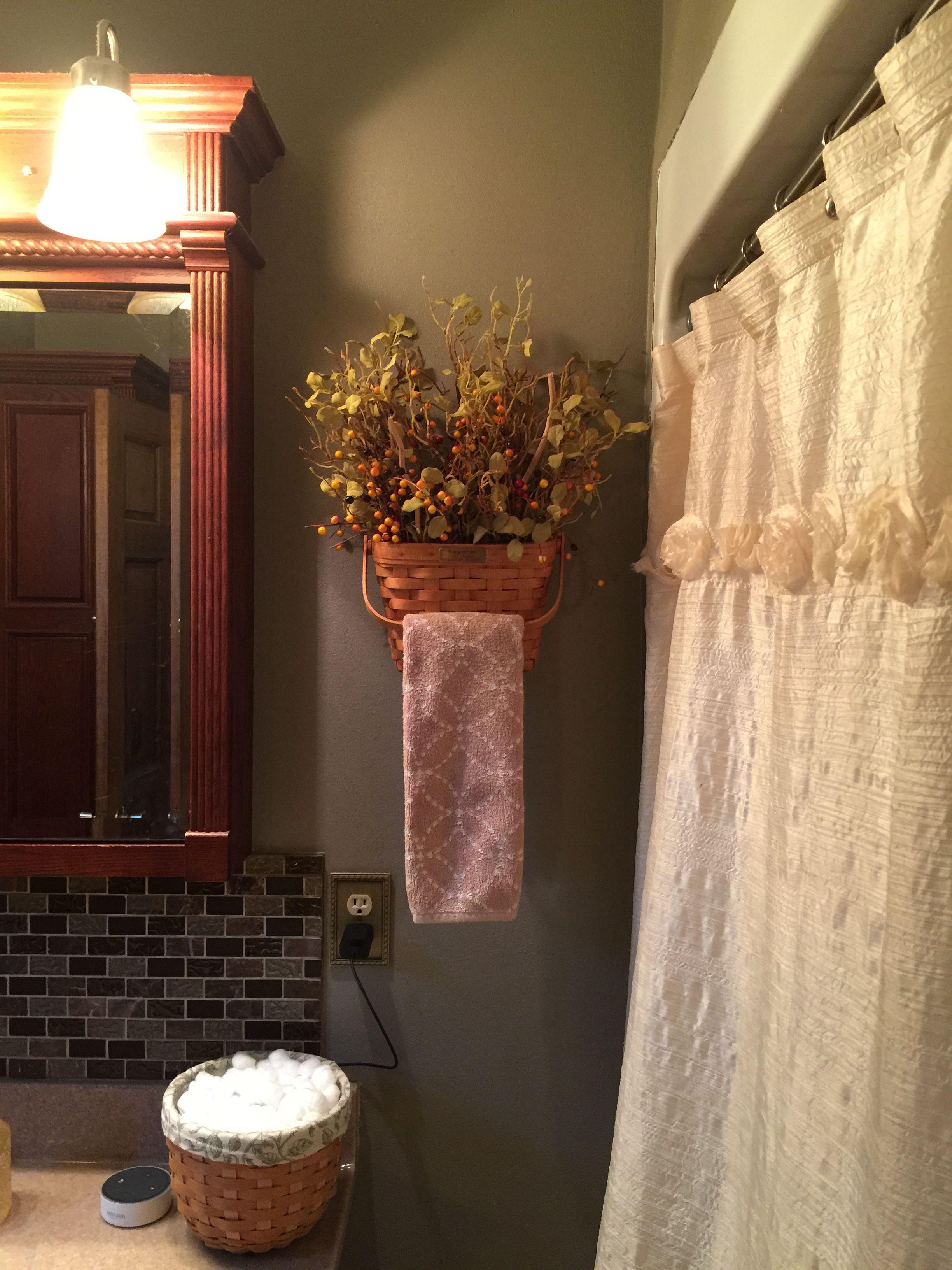 Repurposing longaberger baskets primitivebathrooms primitive