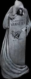 Tall Grim Reaper stone