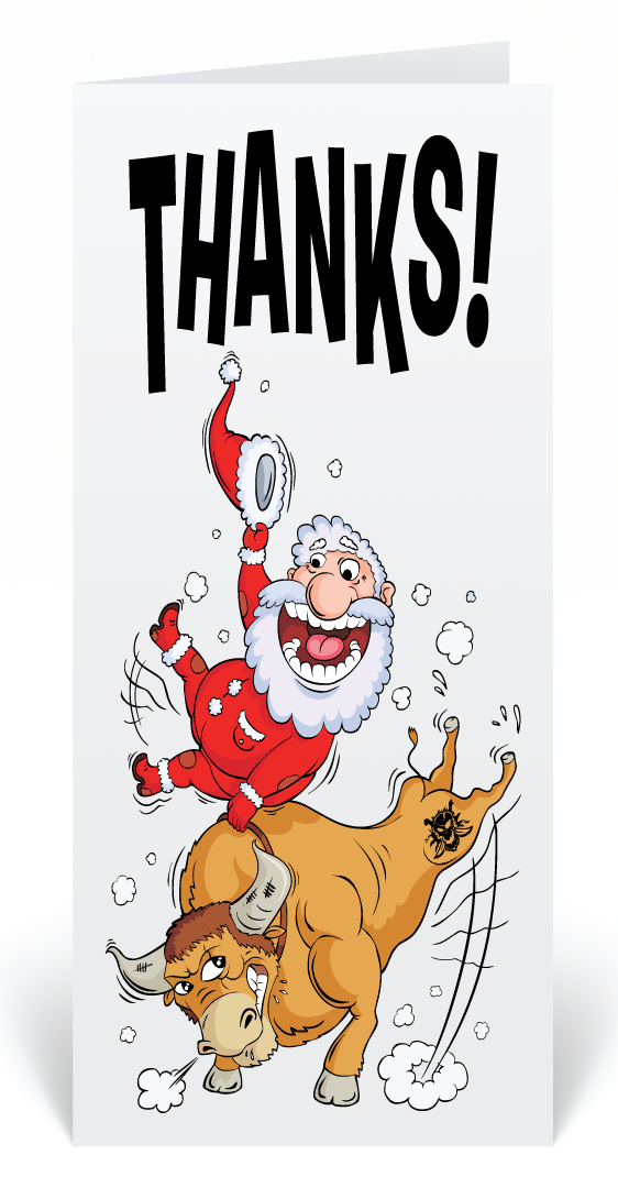Bull riding santa christmas greeting cards funny cartoon santa bull riding santa christmas greeting cards funny cartoon santa business greeting card humorous santa colourmoves