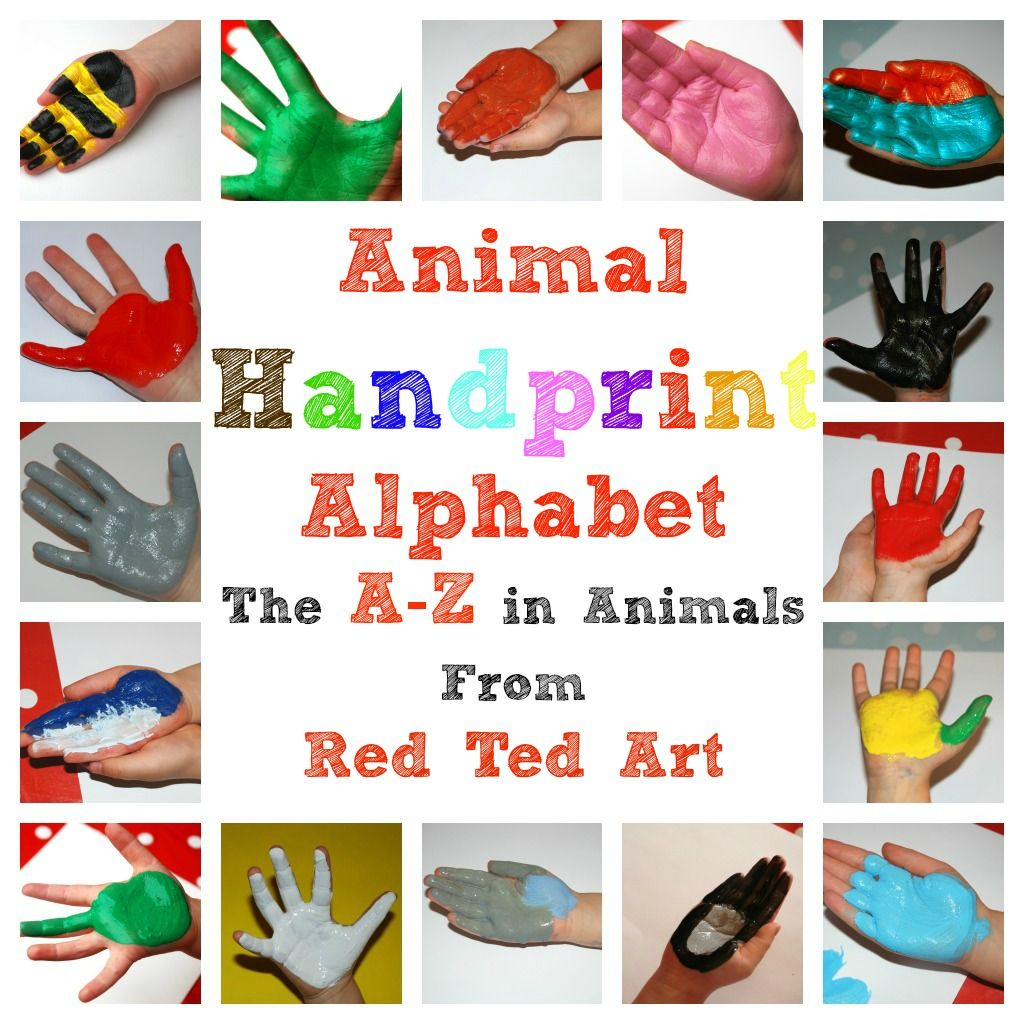 Handprint Animal Alphabet A Z Craft Activities For Kids Alphabet Crafts Footprint Crafts
