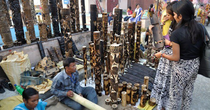 Kolkata The West Bengal State Handicrafts Fair 2017 Popularly