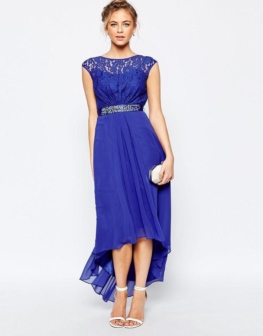 Imagen 1 de Vestido largo en azul cobalto Lori Lee de Coast | mis ...