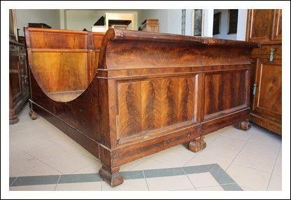 Letto Antico Matrimoniale.Letto Barca Matrimoniale Luigi Filippo Epoca 1840 In Noce