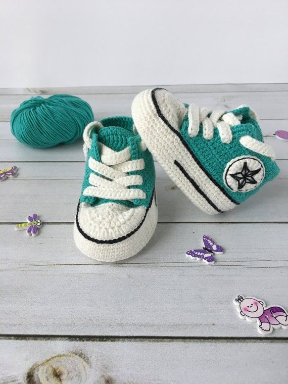 2697835519f1 Crochet Converse All star baby booties slippers shoes sneakers socks allstar
