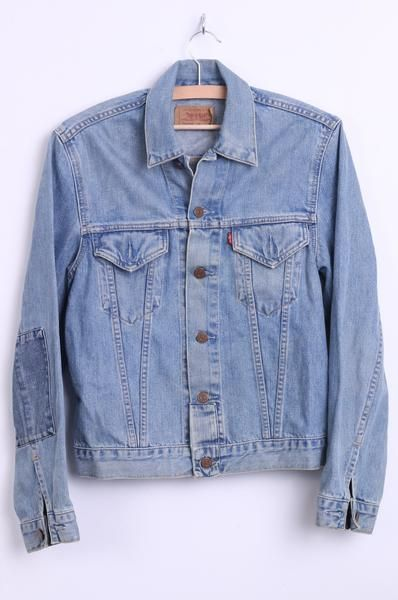 a432a9d9257 Levi Strauss   Co. Womens M Denim Jacket Cotton Classic Jeans Sky Blue  Patches - RetrospectClothes