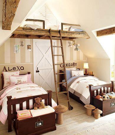 Geschwister Zimmer Trio Kinder Zimmer Gemeinsames Schlafzimmer Schlafzimmer Design