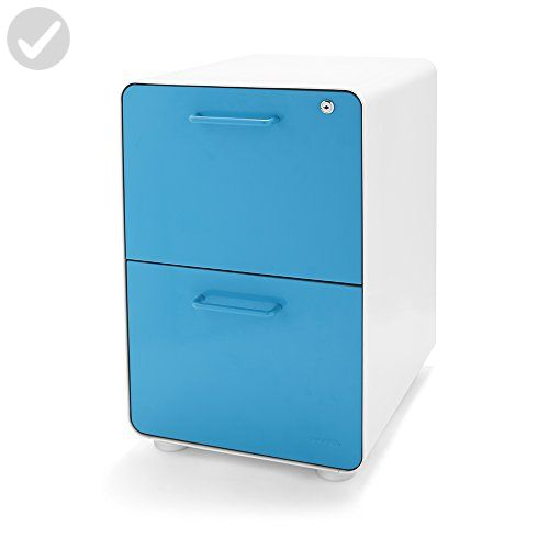 Marvelous Poppin White Pool Blue Stow 2 Drawer File Cabinet Fun Interior Design Ideas Pimpapslepicentreinfo