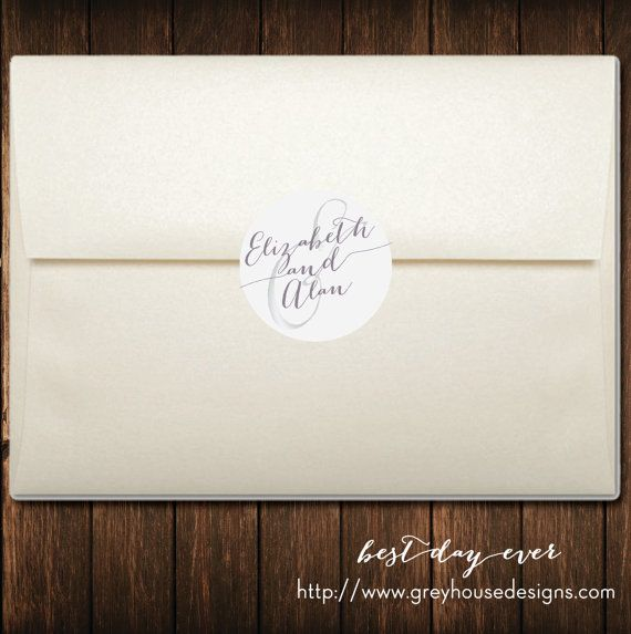 Best Day Ever Printable Wedding Envelope Seals Stickers