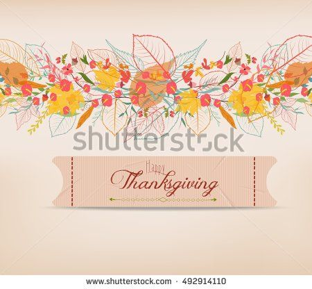 Happy thanksgiving background of stylized autumn leaves for background of stylized autumn leaves for greeting card m4hsunfo