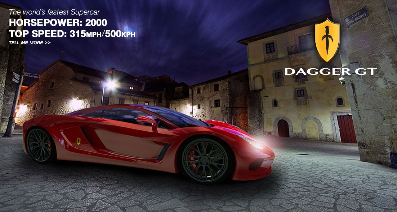 The Dagger GT concept will go 315 mph!! Vehiculos