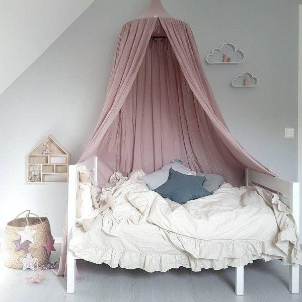 Baldachin Kinderzimmer Himmelbett Rosa Weiß