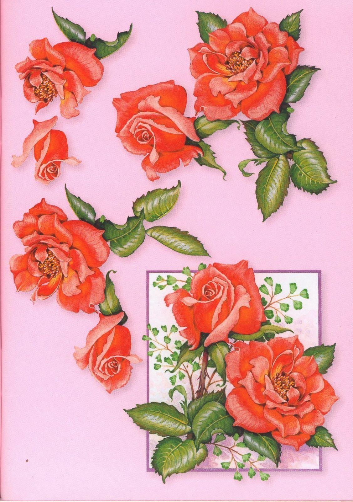 эти прекрасные розы украсят любую открытку   Christmas ...