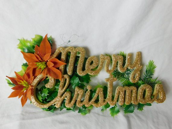 Vintage 1960s 60s Plastic Merry Christmas Sign By Fromanotherday Merry Christmas Sign Christmas Signs Vintage Christmas