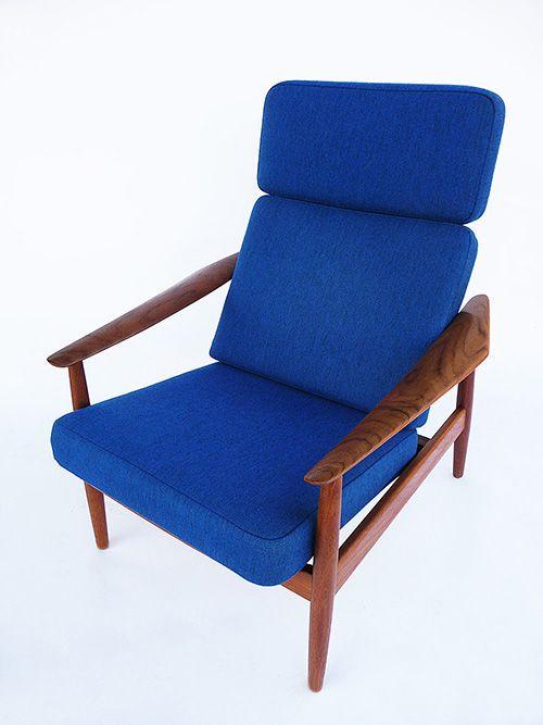 Arne Vodder; Teak Adjustable Chair for France & Son, c1960