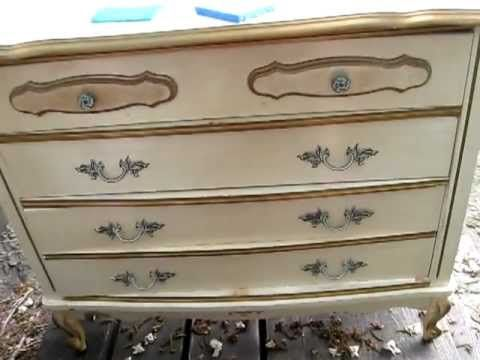 Refinishing Bella s French Provincial Furniture   Shabby Chic part 2  video. more Bonnet Sears furniture   French Provincial  Sears Bonnet