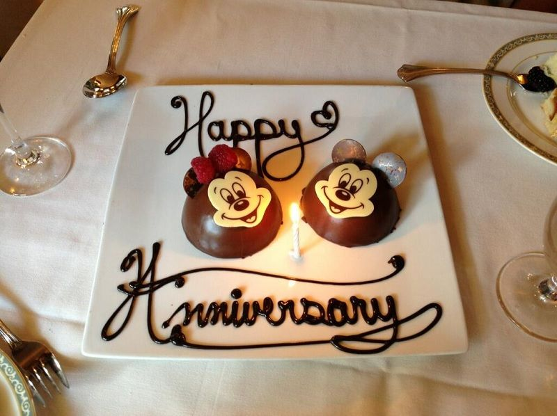Club33dessert And Other Free Things You Can Get At Disneyland Happy Anniversary Cakes Happy Wedding Anniversary Wishes Disneyland Anniversary