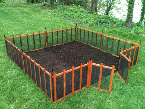 how to build a garden with wire fencing