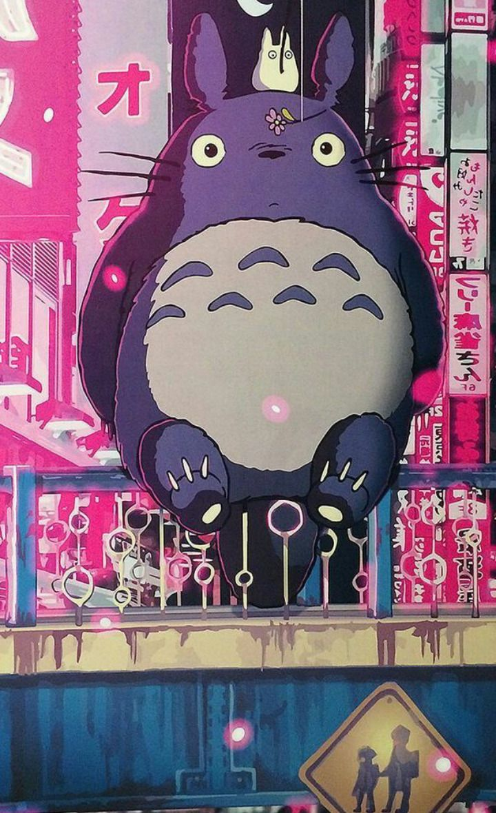 Confusão Intergalática — Spirited Away. Totoro and No Face.  Chihiro....