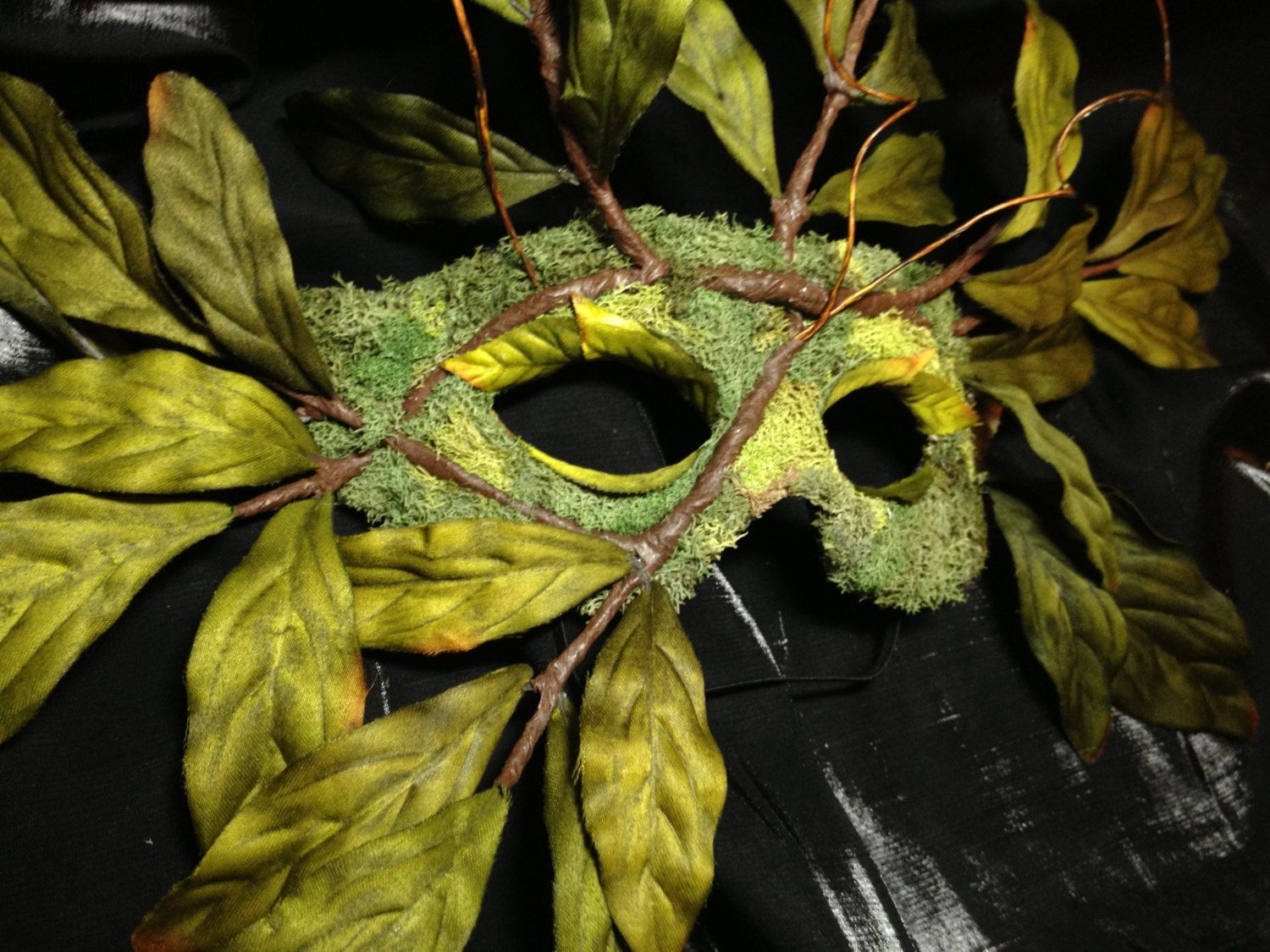 Nature Spirit Tree Mask - Wearable Wall Art - Green Man - Leaf and ...
