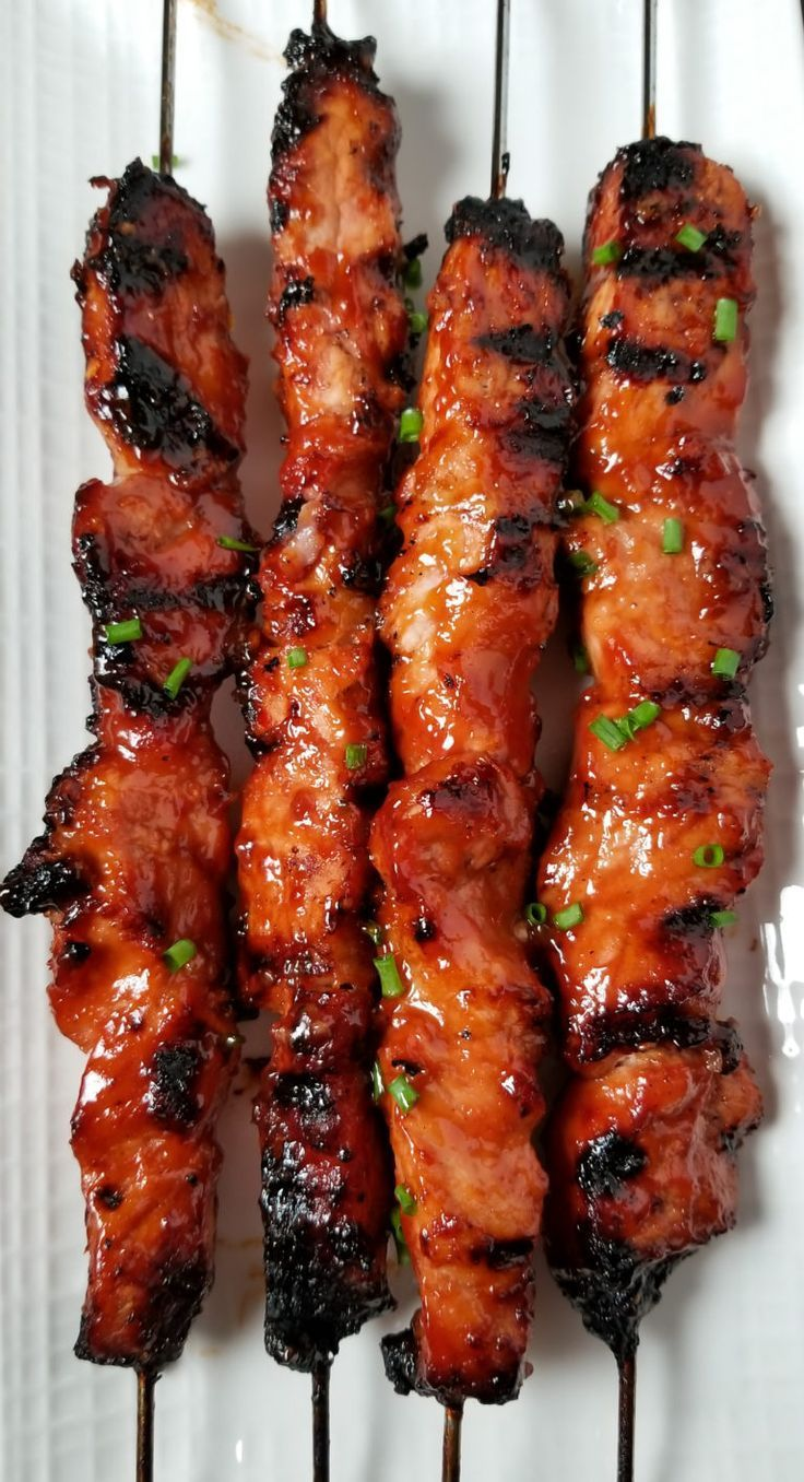 BBQ Pork Skewers with Filipino BBQ Marinade | Amanda Cooks & Styles