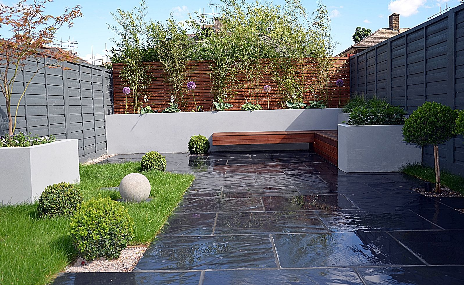 Raised Beds Architectural Planting Ornamental Lawn