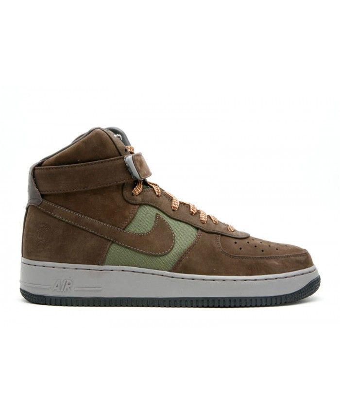the latest 11bda dd16b Air Force 1 High Premium Bobbito Army Olive, Brq Brown-Sft Gry 318431-