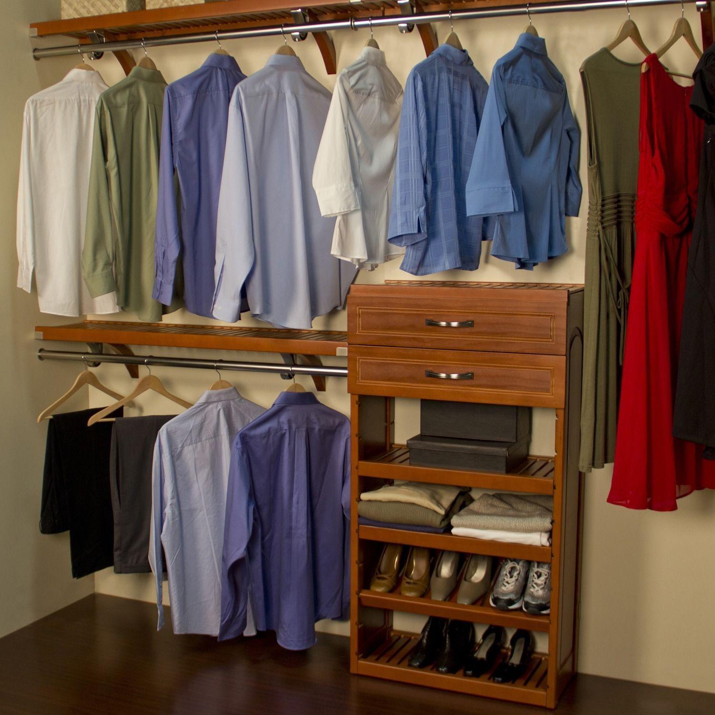 John Louis Deep Woodcrest Carmel Finish 12 Inch Closet System (12 Inch Deep,