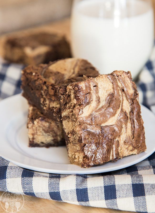 Peanut Butter Cheesecake Swirled Brownies
